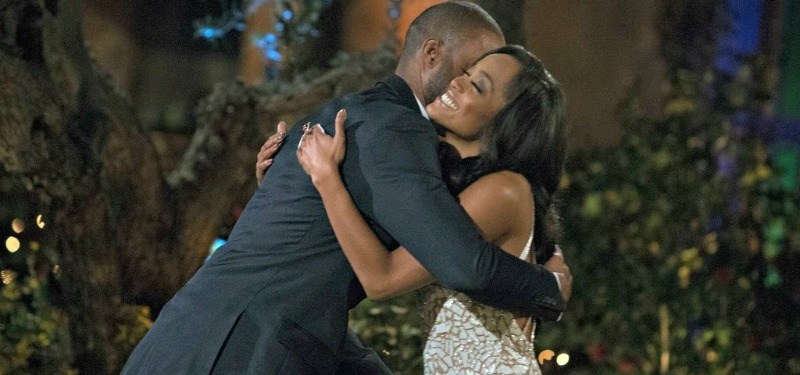 DeMario and Rachel are hugging on the first night.