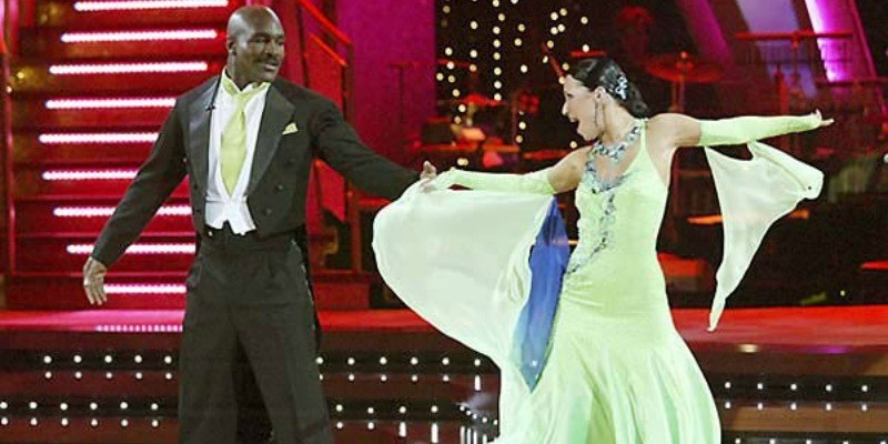 Evander Holyfield and Edyta Sliwinska are dancing together on Dancing with the Stars.