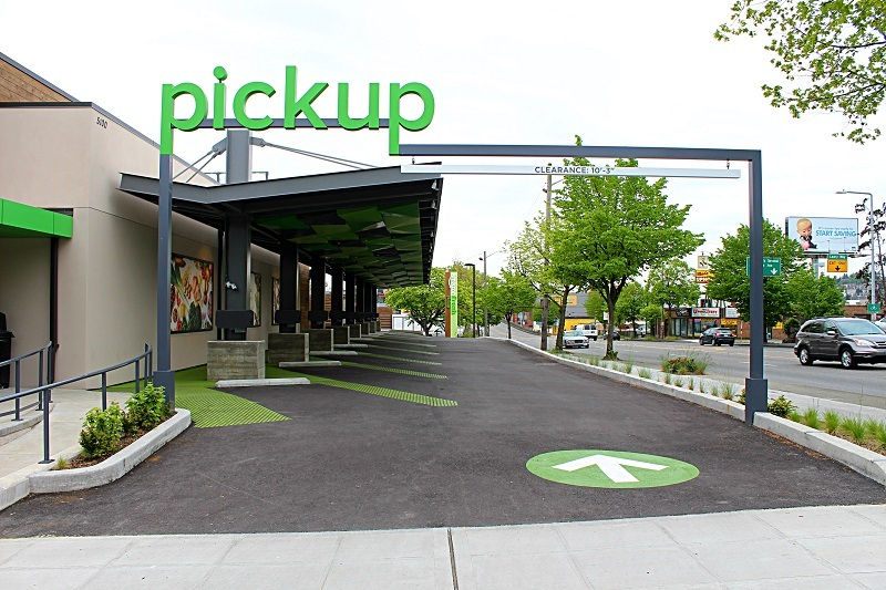 The drive-up entrance in Ballard