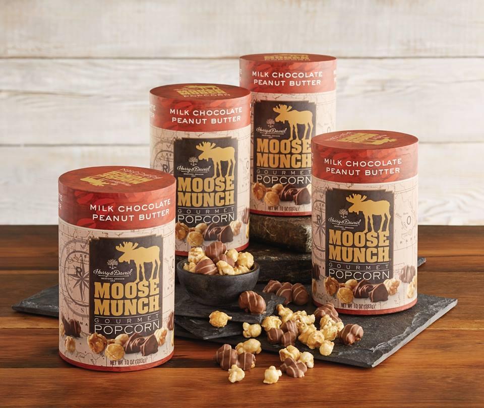 Harry and David Moose Munch popcorn tins