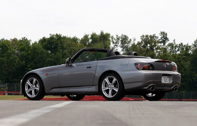 View of Honda S2000 at the track