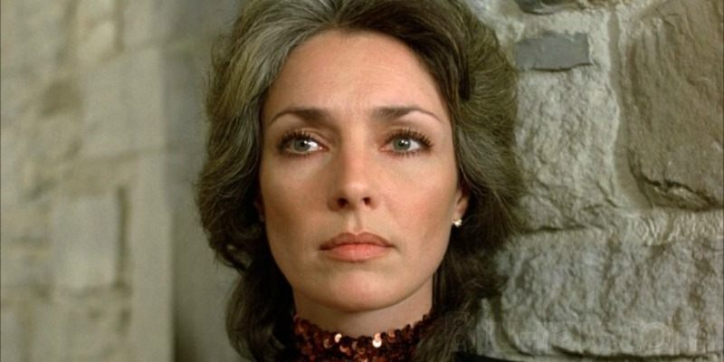 This is a closeup of Jennifer O'Neill's face.