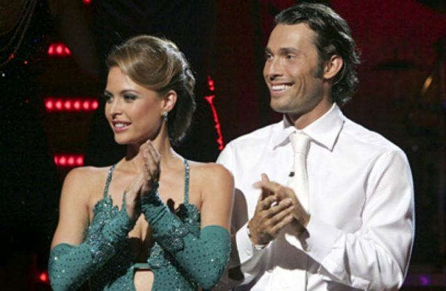 Josie Maran and Alec Mazo are clapping on 'Dancing with the Stars.'