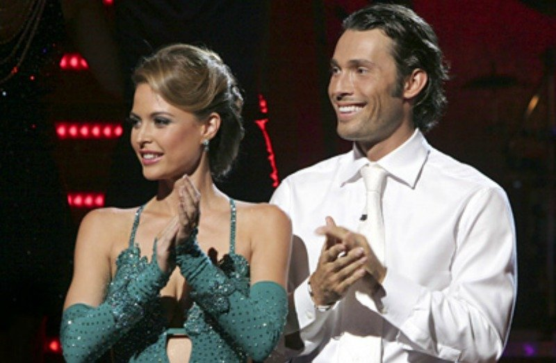 Josie Maran and Alec Mazo are clapping on Dancing with the Stars.