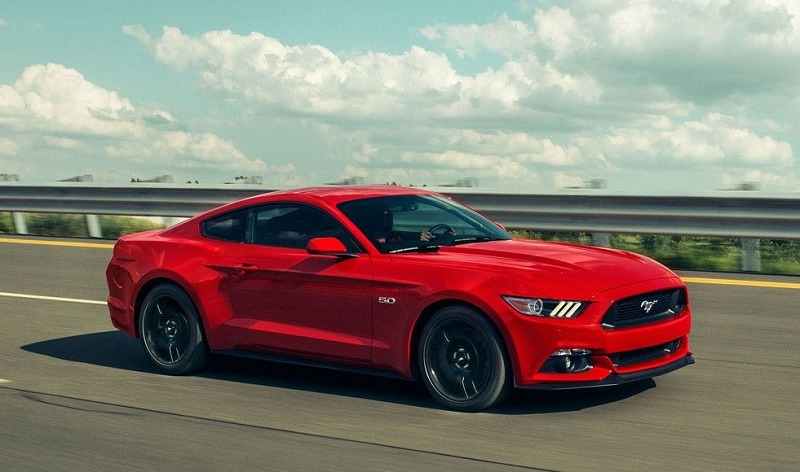 View of 2017 Mustang GT in red