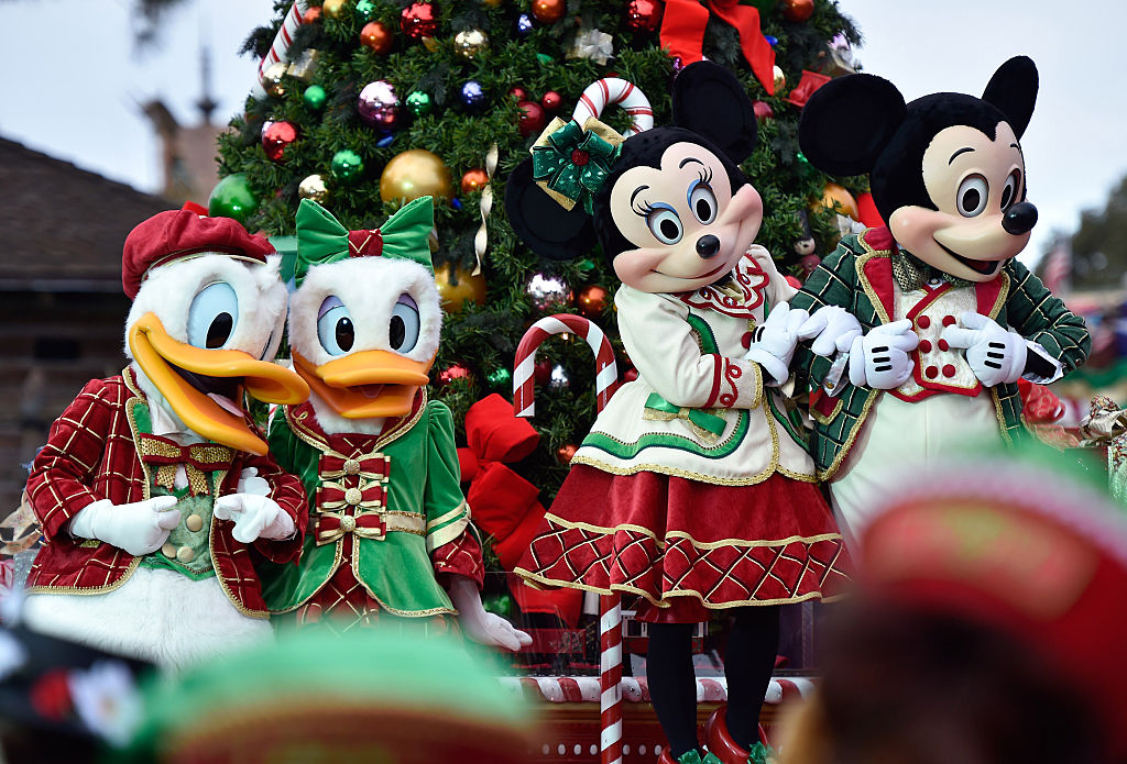 "parade during the taping of the Disney Parks ""Frozen Christmas Celebration"""