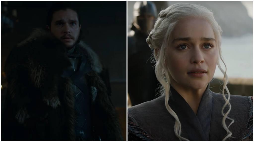A side-by-side of Jon Snow and Daenerys Targaryen