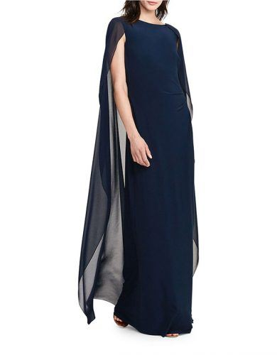 navy gown