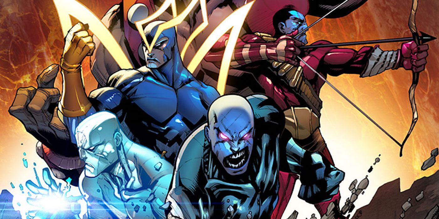 The original Guardians of the Galaxy, posing together in Marvel's comics
