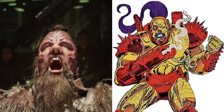 Chris Sullivan as Taserface in Guardians of the Galaxy Vol. 2 and Taserface in the comics