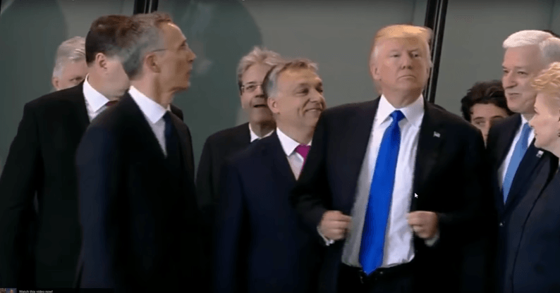 Trump fights his way to the front at a NATO summit