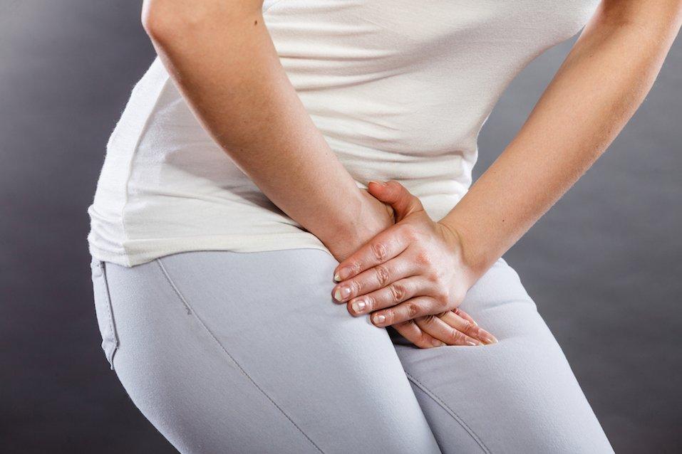 woman having to urinate