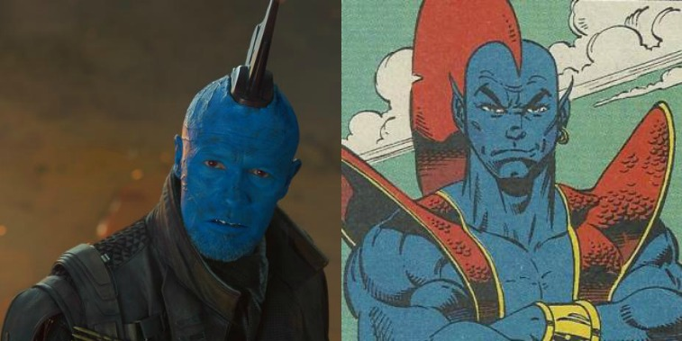 Yondu in Guardians of the Galaxy Vol. 2 and in the comics