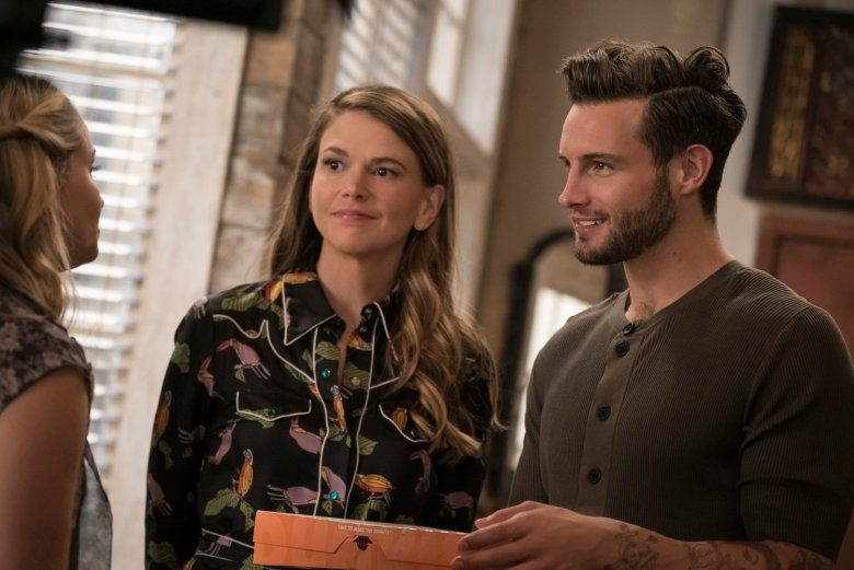 Liza and Josh talk to Kelsey in a scene from Younger