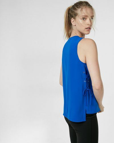 Express lace-up tank
