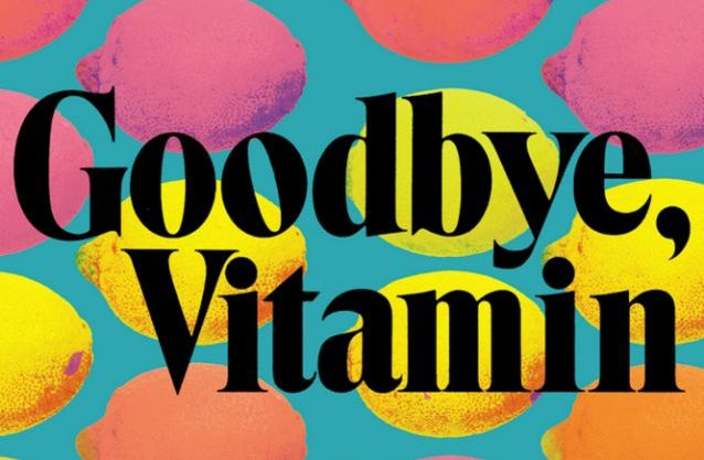 Different colored lemons in a line on the cover of Goodbye, Vitamin
