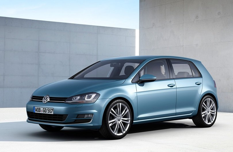 VW promo shot of 2014 Golf compact car