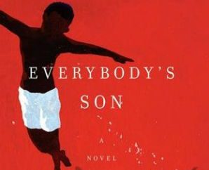 A young boy dances on a red background on the cover of Everybody's Son