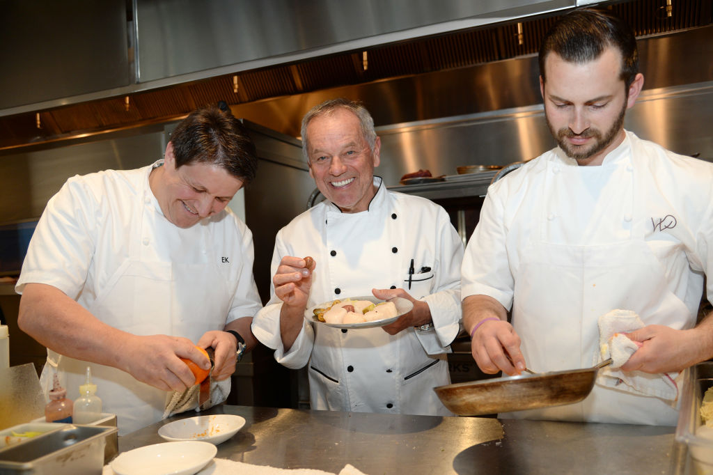 Wolfgang Puck in a kitchen