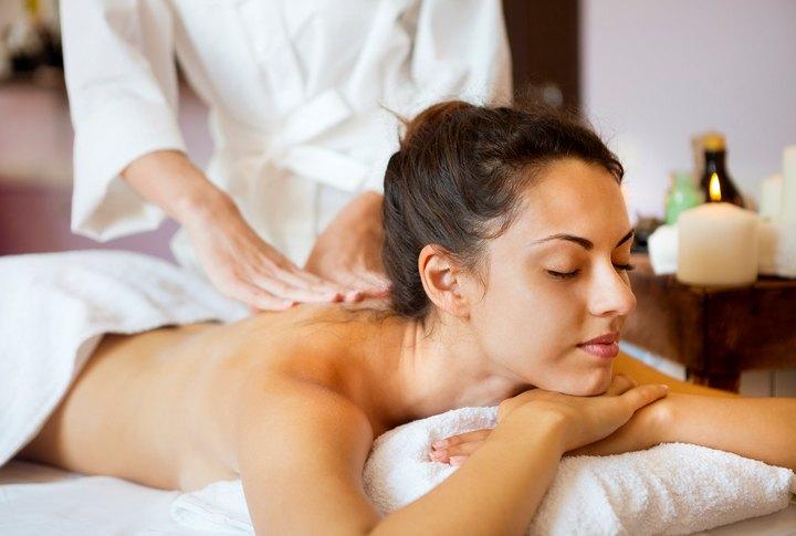 woman getting massage