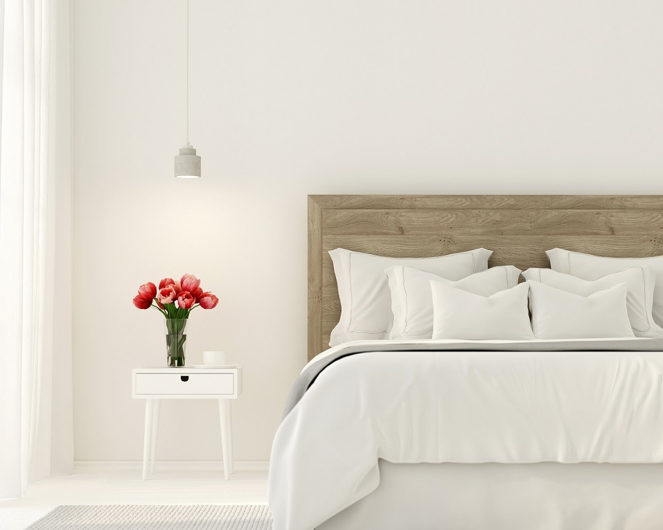 bedroom in white color