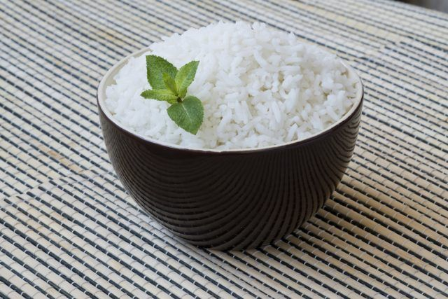 White rice lacks many of the nutrients in brown rice.