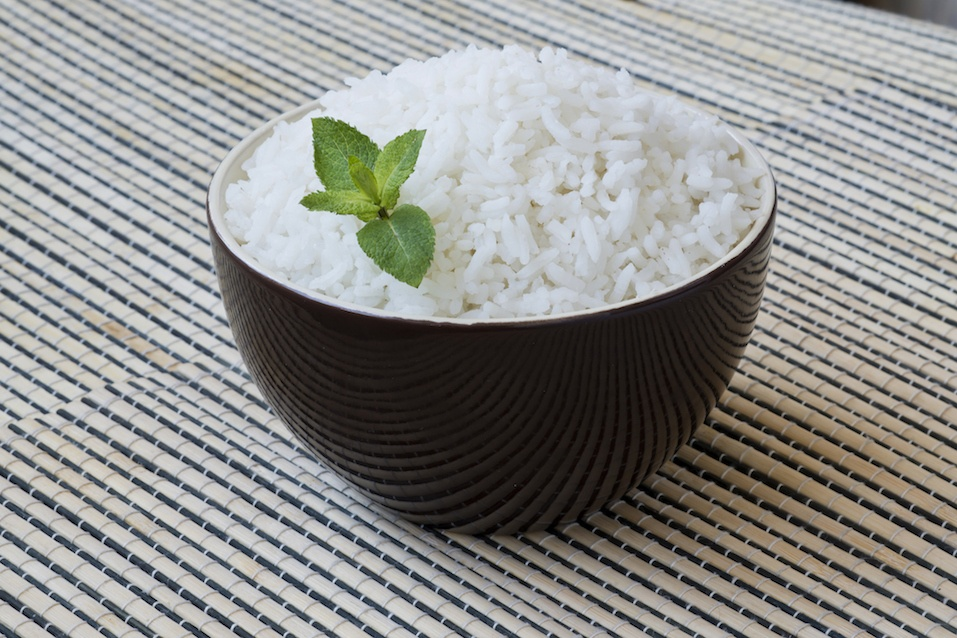 Bowl of steamed white rice