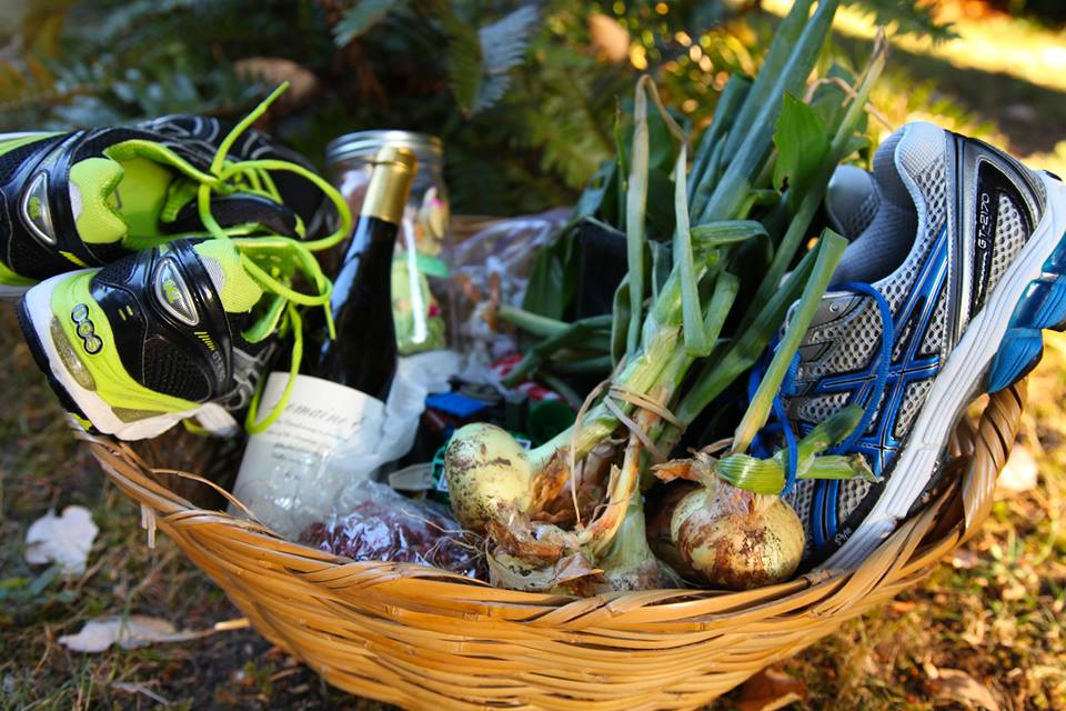 A basket of goods from the Buy Nothing Project