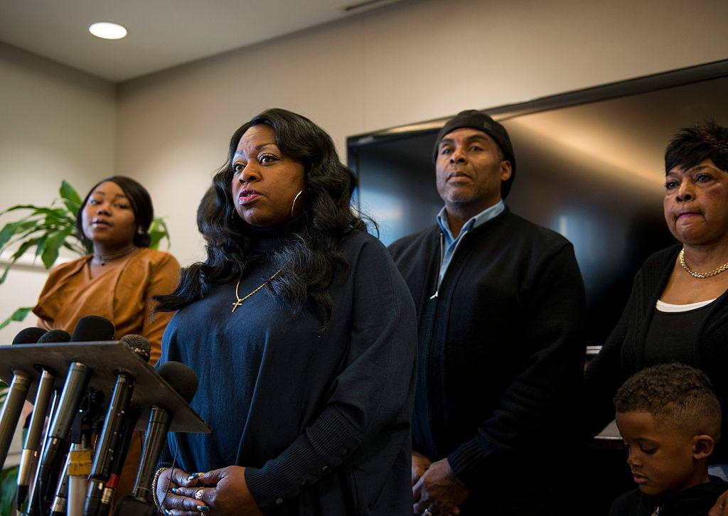 Valerie Castile, mother of Philando Castile, speaks during a press conference