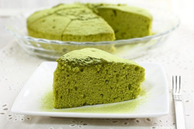 Try baking with matcha for a healthier alternative to sugar.