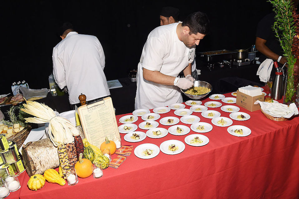 chefs plating food
