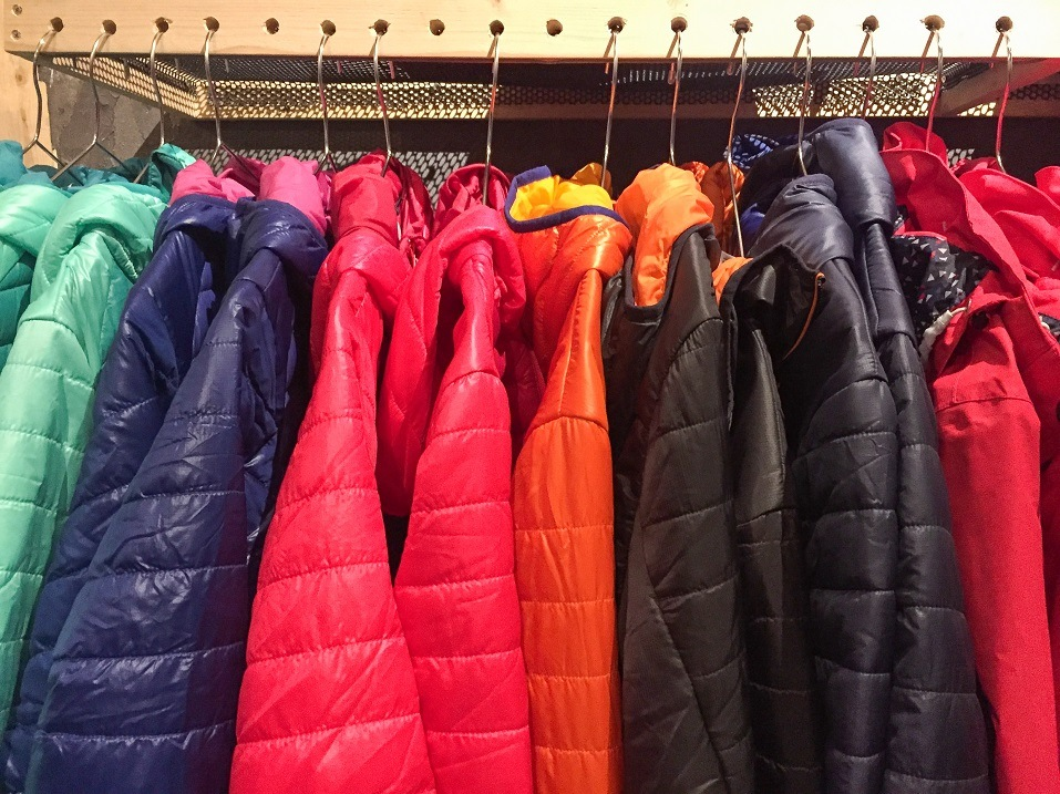 Colorful winter down jacket