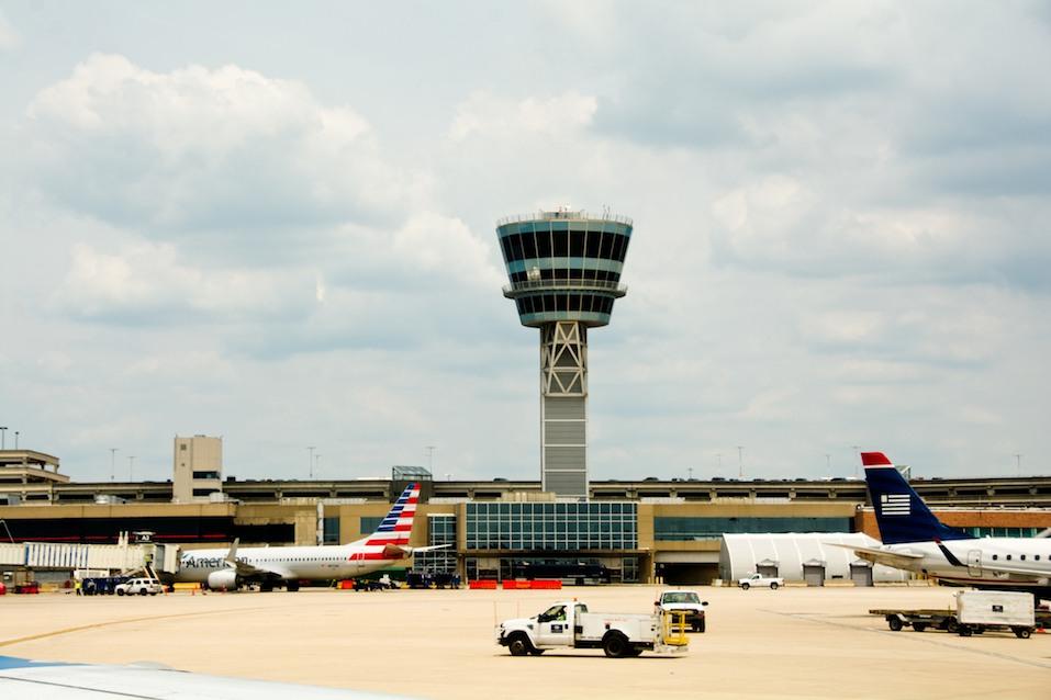 control tower of the Philadelphia International Airport.