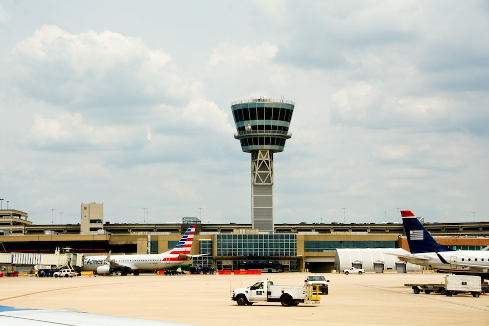control tower of the Philadelphia International Airport.