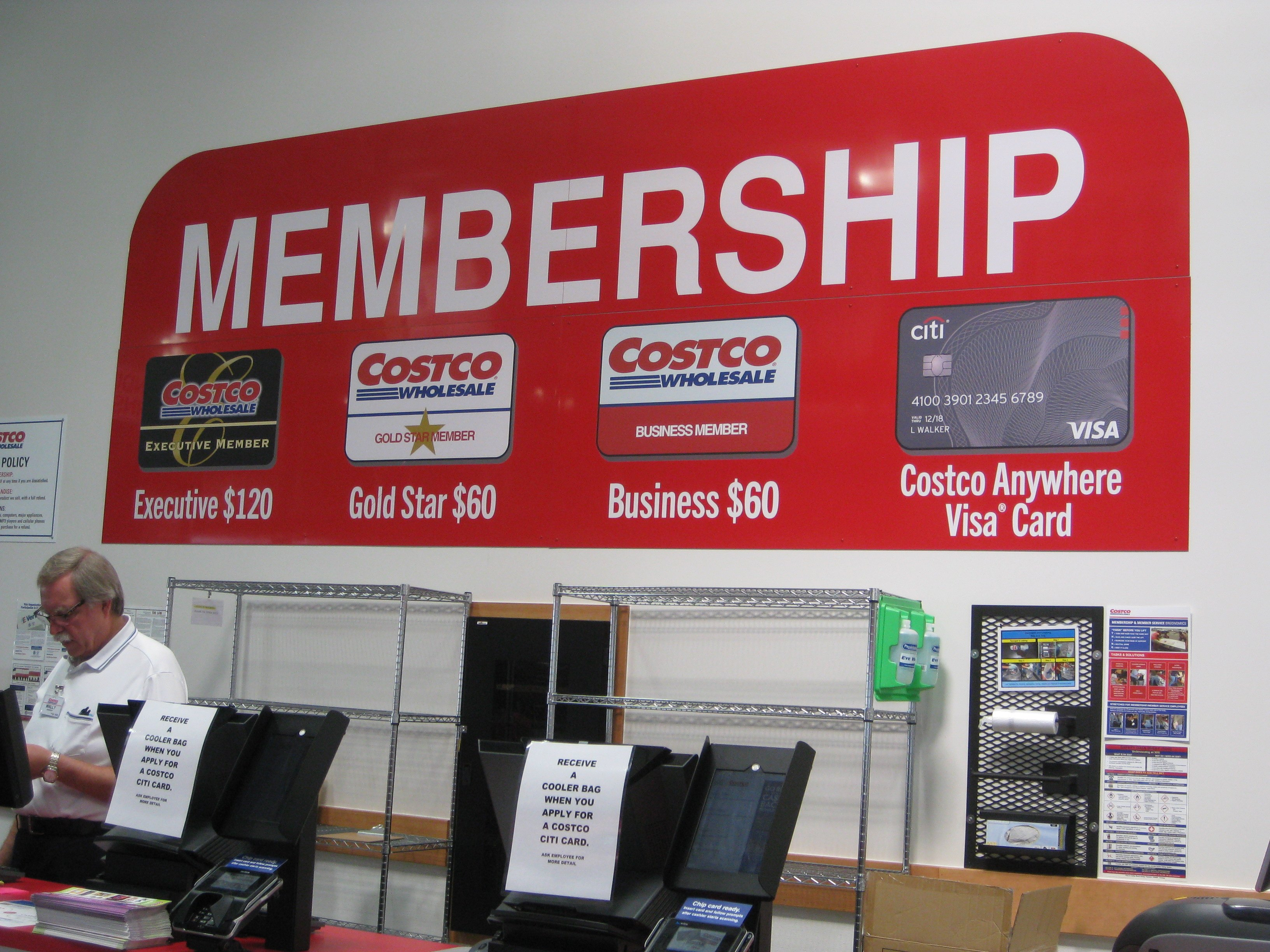 Costco membership desk