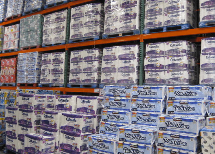 Costco toilet paper wall