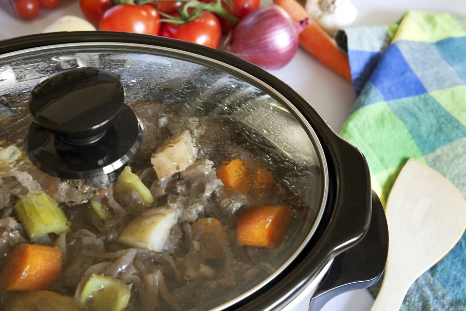 A crock pot slow-cooking