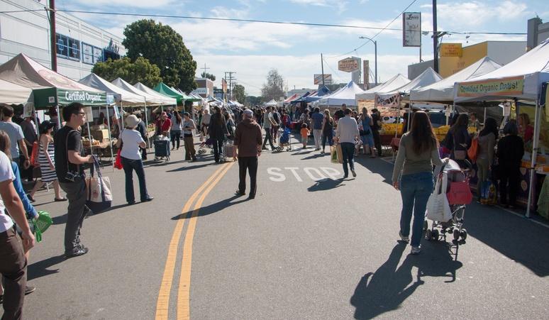 Crowded Farmers Market
