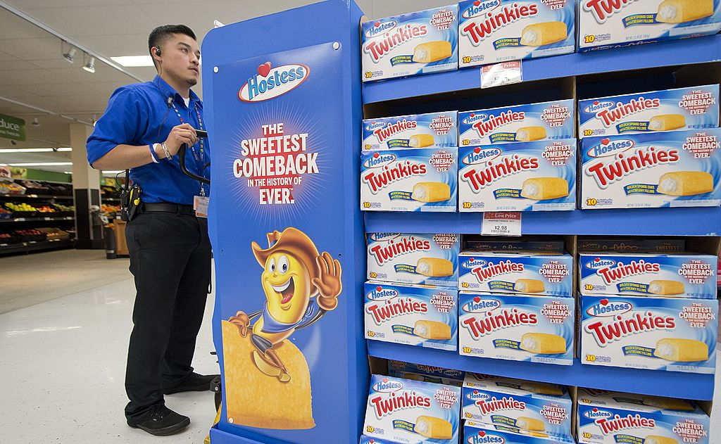 A Hostess Twinkies display at a grocery store