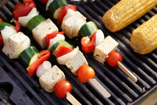 Grilled tofu is a healthy alternative to pork or steak.