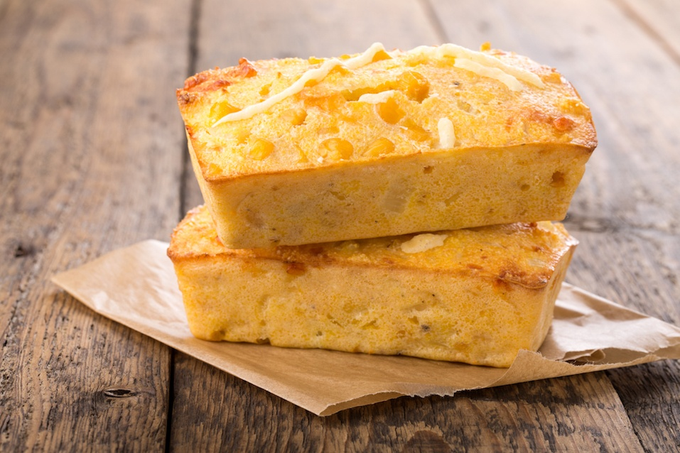 Freshly baked corn bread