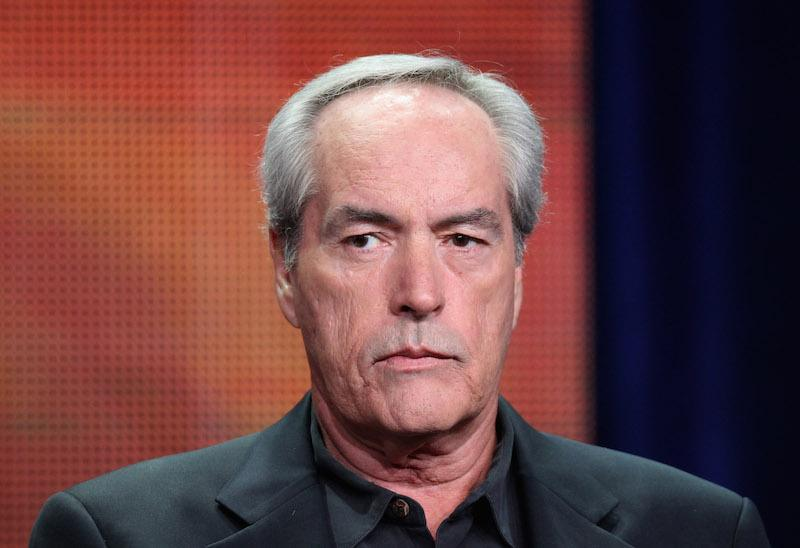 "Powers Boothe speaks onstage at the ""Nashville"" panel"