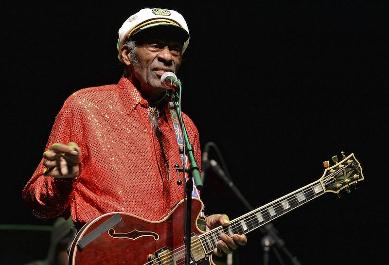 Chuck Berry performs at a concer