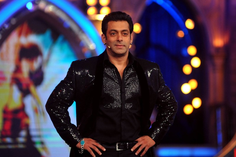 Indian Bollywood actor Salman Khan looks on while hosting the final of the reality show 'Bigg Boss 7' in Mumbai