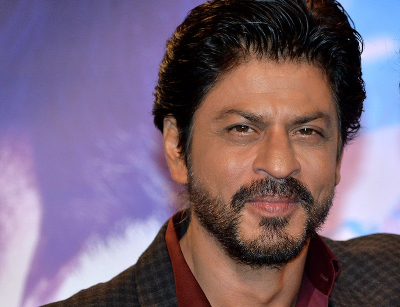 A close-up of Bollywood star Shah Rukh Khan