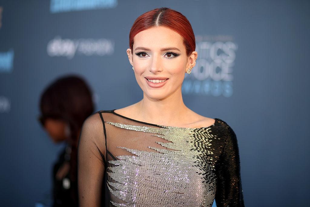 Bella Thorne smiles at the Critics' Choice Awards