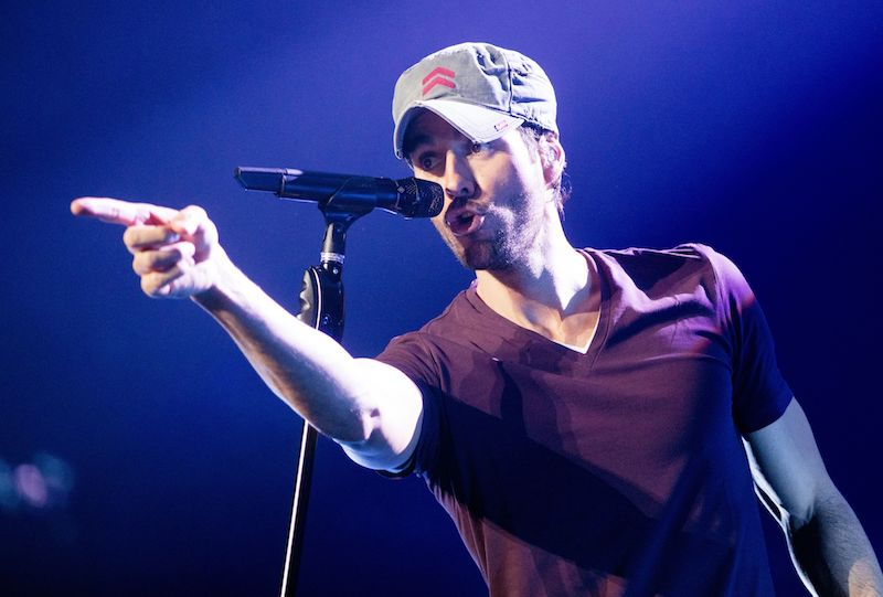 Singer Enrique Iglesias performs on stage during a concert