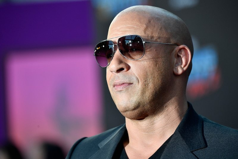 "Actor Vin Diesel arrives at the premiere of Disney and Marvel's ""Guardians Of The Galaxy Vol. 2"