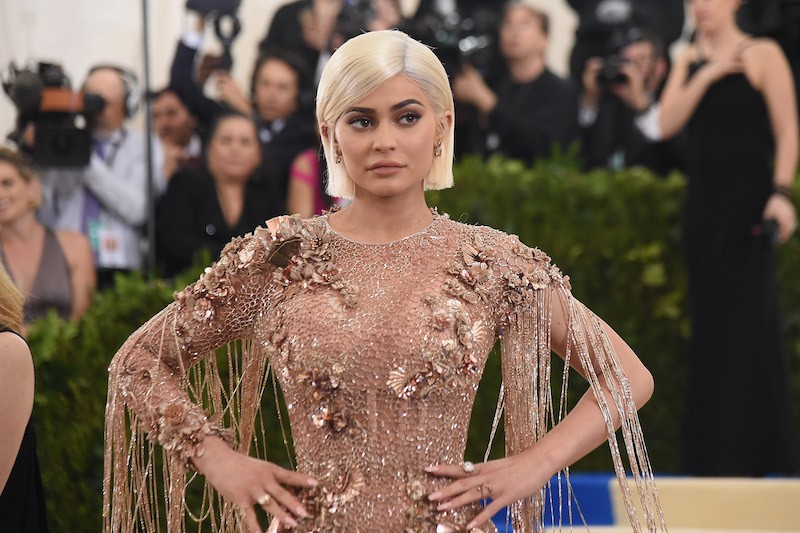 Kylie Jenner poses on the red carpet at the 'Rei Kawakubo/Comme des Garcons: Art Of The In-Between' Costume Institute Gala at Metropolitan Museum of Art