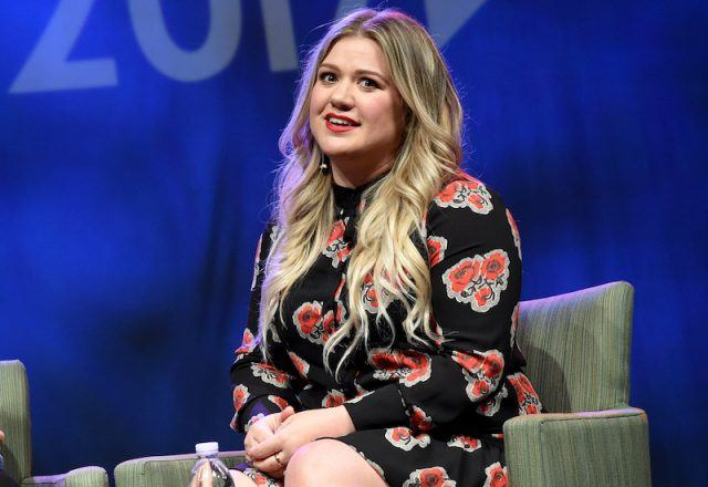 Singer-songwriter Kelly Clarkson speaks on the the Featured Presentation: Music's Leading Ladies Speak Out panel